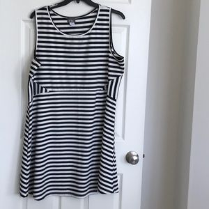 Plus size dress 3x  black & white stripe